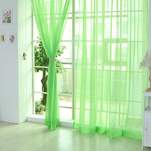 Yunt trasparente sheer Grommet Window sheer tenda mantovana per letto soggiorno 100x 200cm/99,8x 199,9cm, Poliestere, Fruitgreen, 2pcs