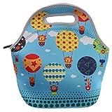 Kindergartentasche Kinder Tasche Handtasche Mittagessen Taschen Lunchbox 1200ml Weichen Reißverschluss Neopren Mittagessen Tragetasche Bentobox Sonne - Heißluft -Ballon