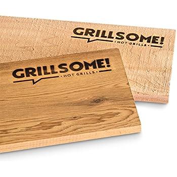 Küchenprofi Grillbrett M Smoky 2 x Zedernholzbrett 35 x 17,5 Grill