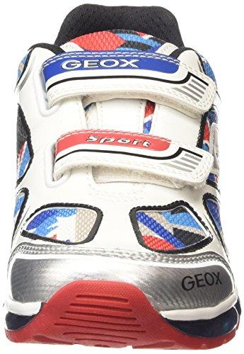 Geox Android A, Jungen Lauflernschuhe Sneakers Weiß (White/Multicolour)