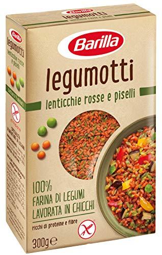Barilla - Legumotti Lenticchie Rosse e Piselli - Ricchi di Proteine e Fibre - Senza Glutine - Pacco da 300 gr