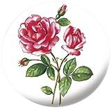 WENKO 212511500 Waschbeckenstöpsel Pluggy® XL Rose - Abfluss-Stopfen, für alle handelsüblichen Abflüsse, Kunststoff, 6.2 x 6.6 x 6.2 cm, Mehrfarbig
