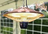 Firefly Chauffage Extérieur Électrique Suspendu 1,5kW - Halogène - IP24 Finition Cuivre