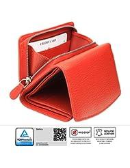 KORUMAⓇ RFID protégées - dames cuir de qualité sac à main avec zip autour du changement plateau - solution carte de problème de conflit - boîte-cadeau (kuk-10PNR)