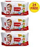 #5: Luvlap Paraben Free Baby Wet Wipes with Aloe Vera - 3 Packs (216 Wipes + 24 Wipes Free)
