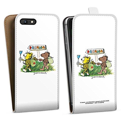 Apple iPhone X Silikon Hülle Case Schutzhülle Janosch Fanartikel Merchandise Panama Downflip Tasche weiß
