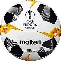 Molten UEFA Europa League Official Match Ball 1000, Unisex, F5U1000-G9, White/Black/Orange, Taglia 5
