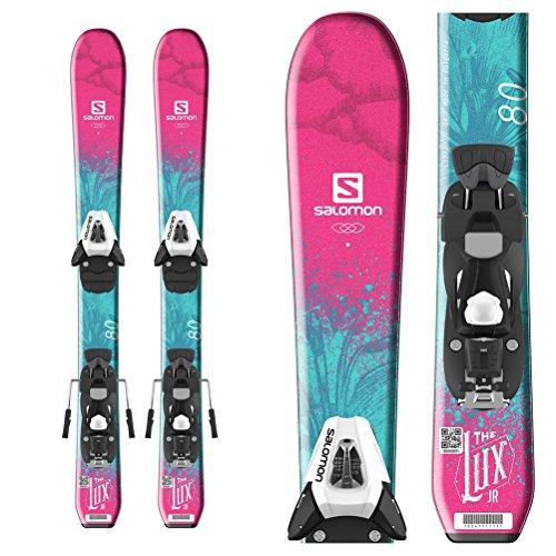 Salomon QST Lux Jr. Kinder Ski mit C5SR EZYTRAK Bindung, Mädchen -