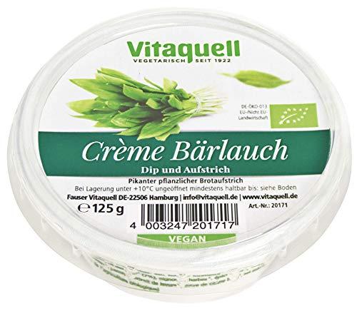 Vitaquell Bio Crème Bärlauch – veganer Frischkäse 125 g