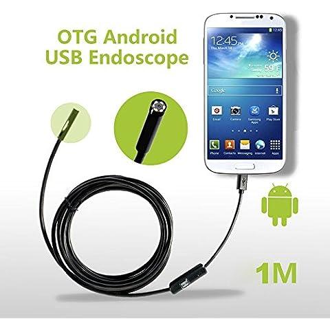GIM 2in1 USB Endoscopio Impermeabile Ispezione Telecamera Periscopio 7mm Borescope Inspection Camera USB per Sistema Android Samsung SONY Nexus LG Huawei