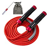 ZRANGTOP Weighted Jump Rope with Non-slip Handles, Adjustable Jumping Ropes -Rope Load Heavy