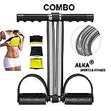 ALKA Combo Tummy Trimmer-with Hot Slim Belt Waist Trimmer-Abs Exerciser-Body Toner-Fat Buster- Multipurpose