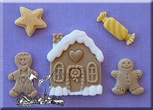 Cookies-Natale 3D-Formine in Silicone per decorare dolci natalizi.