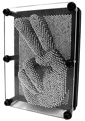 Ailiebhaus 3D- Bild Captor Clone Pin Punkt Impression Intelligente Nagelspiel Spielzeug Dekoration (20.3*15.2*4.5CM, Schwarz)