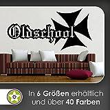 KIWISTAR Oldschool Eisernes Kreuz Wandtattoo in 6 Größen - Wandaufkleber Wall Sticker