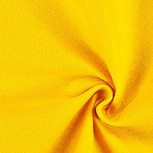 Fabulous Fabrics Filzstoff gelb, 1 mm dick, 90 cm breit - Filz zum Nähen und Basteln von Taschen, Tischdeko, Filzkörbe und Wohnaccessoires - Meterware ab 0,5m