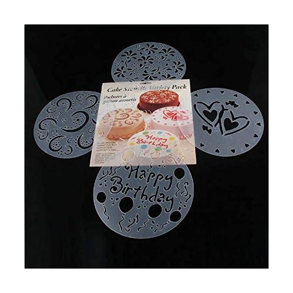 EisEyen 4 Stencil da Cucina per Biscotti Fai da Te, Cioccolato ...