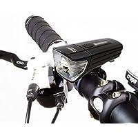 Crops Lum120 Luce Bicicletta Ricaricabile – Intensa, Luminosa e Ampia Visione in Avanti - Tecnologia a Fascio Largo - 3 Modalità - 120 lumen – MTB – Bici da Corsa – Inclusi 2 Supporti di Montaggio