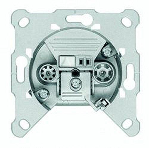 Preisvergleich Produktbild Triax Antennendose 2-Loch; Made in Germany; Enddose / Stichleitungsdose; Universaldose für Kabelanschluss, DVB-T, UKW und Sat; optimal für Sonderkanäle S02, S03 und HDTV