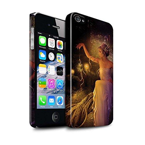 Officiel Elena Dudina Coque / Clipser Brillant Etui pour Apple iPhone 4/4S / Reine des Forêts Design / Un avec la Nature Collection Poussière de Lutin