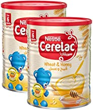 Nestle Cerelac Wheat and Honey Infant Cereal Tin, 400gm (Pack of 2)