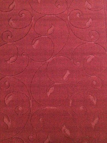 ASPECT Tapis Motif Floral Rouge 140 x 200 cm