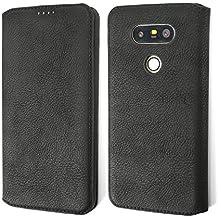 Etui LG G5, Coodio Premium Housse en Cuir, Housse LG G5, Coque de Protection avec emplacement de carte, Housse Portefeuille Pour LG G5,Noir