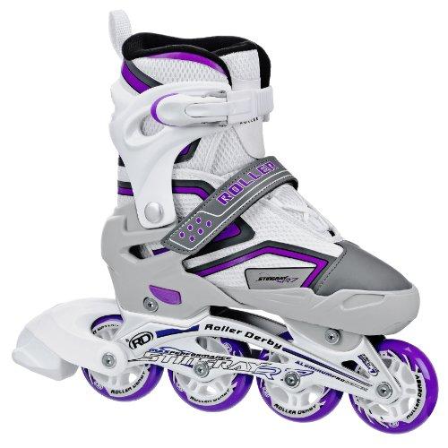 Roller Derby Inlineskates Stingray R7 Girl's Weiß/Grau/Lila 12-2