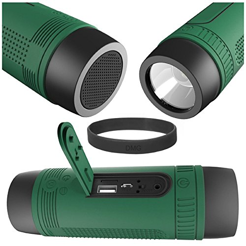 ZEALOT 4-in1 Waterproof Wireless Portable Bluetooth Speaker FM Radio with Powerful Torch 4000 mAh Powerbank and Travel Gear Holder