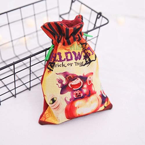 Bag Blatt Kostüm - jieGREAT ❤❃ Räumungsverkauf❤❃ ,Halloween süße Hexen Candy Bag Verpackung Kinder Party Aufbewahrung Tasche Geschenk