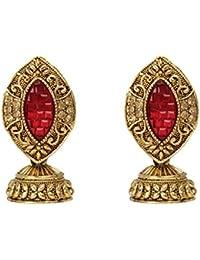 Dancing Girl Bollywood Jhumki Maroon Metal Alloy Jhumka Earring For Women Girls