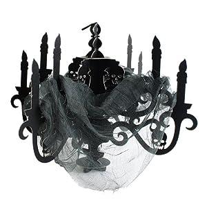 Amscan International-670455candelabro de papel negro casa encantada