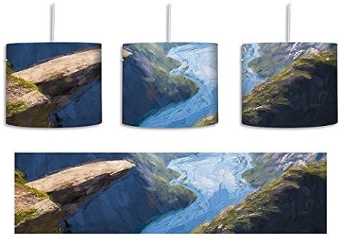 Blick auf wunderschönes Tal Kunst Pinsel Effekt inkl. Lampenfassung E27,