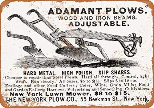 Farm Equipment (Laptopo 1880 Adamant Plow Farm Equipment - Vintage Look 7 x 10 Metal Sign)