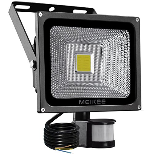 MEIKEE 20W LED Strahler mit Bewegungsmelder LED Fluter IP66 wasserdicht Außenstrahler Flutlichtstrahler Scheinwerfer Licht, ideale Wandleuchte für Garten, Garage, Sportplatz oder - Garage Sensor Licht