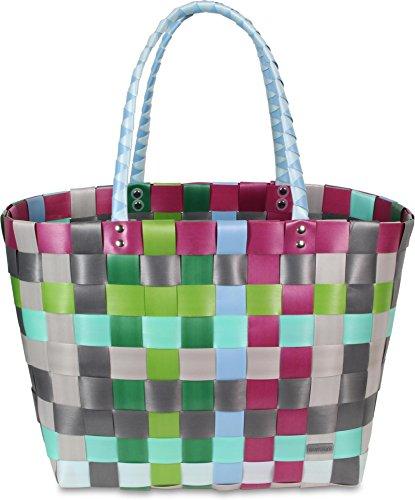 normani Kunststoff Flechtkorb - optimal als Einkaufs- oder Strandkorb geeignet Farbe Classic/Calm -