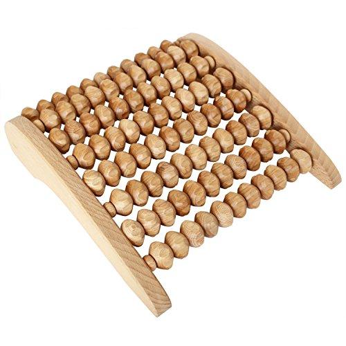Fußmassagegerät aus Holz – Fußmassage für zu Hause, im Büro – Fußmassageroller zum Entspannen der Füße - Gerät ist ideal für Reflexzonenmassagen, Wellness für Ihren Fuß!