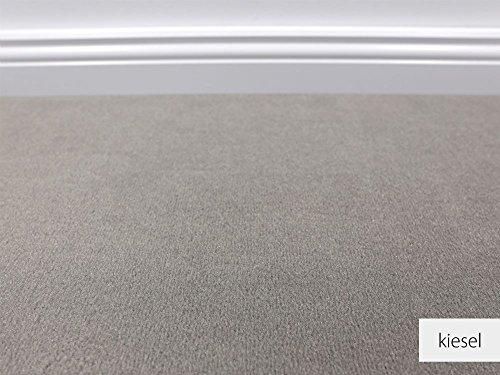 Die Vorwerk Bijou Kollektion - Bijou Uni Teppichboden in 16 Farben Mustermaterial - Inkl. 2% HEVO® Bestellgutschein - Kiesel