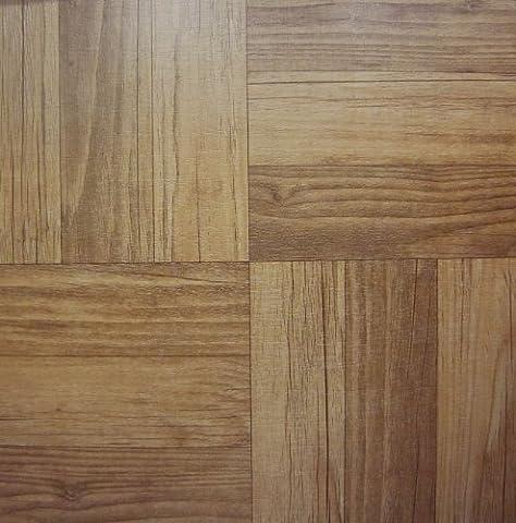30 VINYL FLOOR TILES: Dark Wood SELF-STICK
