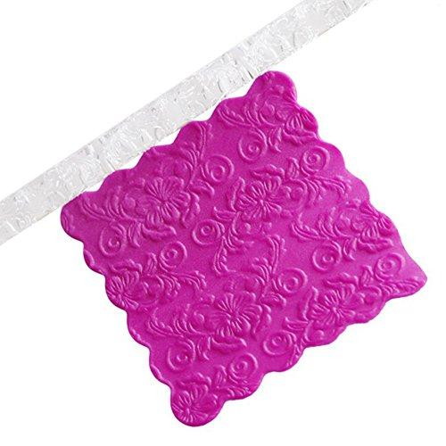 3 estilos rodillo pasta fondant transparente textura