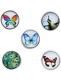 Morella señorías Click-Button Set 5 pcs botones animales de coloures