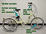 Scout Electric tricycle, folding frame, aluminium, 6 gears, electric trike, 250w motor (Cream)