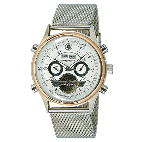 Constantin Durmont Women's Automatic Watch Lafitte CD-LAFI-AT-STM2-STRG-WH with Metal Strap