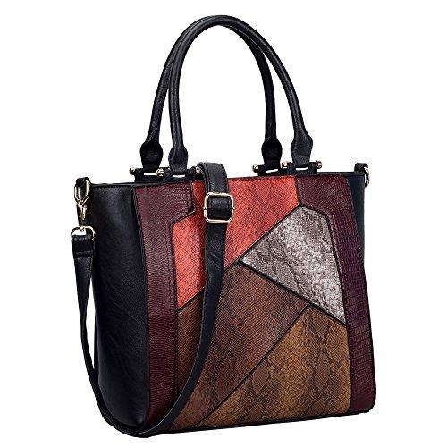 HB Style , Cabas pour femme multicolore multicolore Medium noir