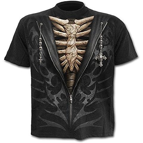 Spiral T-shirt pour homme Motif Unzipped Noir - xx-large