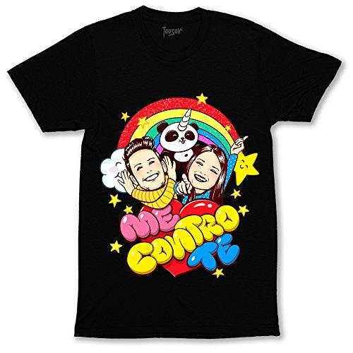 Abbigliamento E Accessori T-shirt Maglia Maglietta Me Contro Te Estate 100% Cotone Lui Sofi Youtube Bambino: Abbigliamento