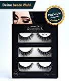 GlamourLook Professional 3D Wimpern - 3 Paar fake lashes falsche