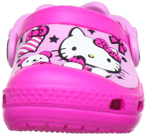 Crocs Creative Crocs Hello Kitty Candy Ribbons Clog (Europe), Sabots fille Rose (Neon Magenta/Carnation)