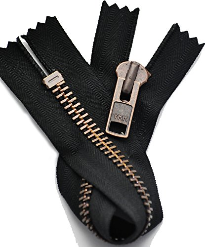 zipperstop all' ingrosso, rame antico cerniera YKK® estremità chiusa YKK®