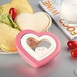 Süße Herz-Form Einfache Ausstecher Sandwich Toast Brot-Form-Hersteller für Party Haus